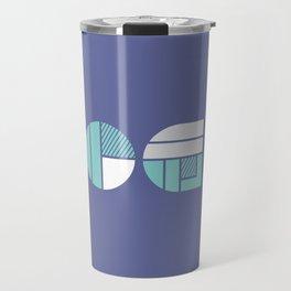 Yoga - typography pattern Travel Mug