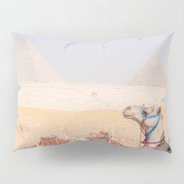 Camel at Pyramids of Giza Egypt Cairo Pillow Sham