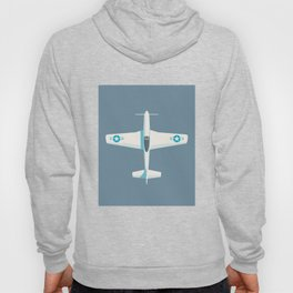 P51 Mustang Fighter Aircraft - Slate Hoody