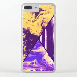 Mixed Marble Stone - Visual Decorative Graphic Design V.4 Clear iPhone Case