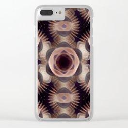 Mutated Derivative Pattern 4 Clear iPhone Case