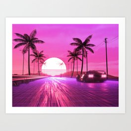 Straight to 80's Art Print