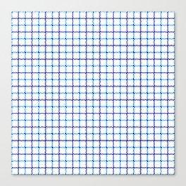 Classic Blue & White Large Tattersall Check Pattern Canvas Print