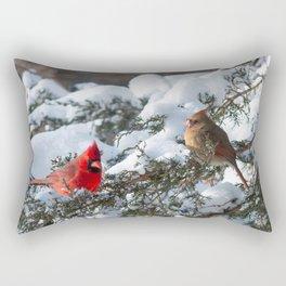 Snow for Breakfast (Cardinals) Rectangular Pillow