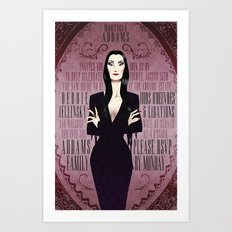 Morticia Addams Bridal Shower Invite Art Print