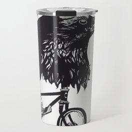 Black Bird Riding Travel Mug