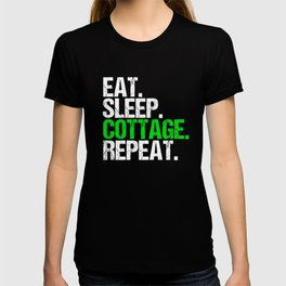 Vintage Eat Sleep Cottage Repeat Funny T-shirt