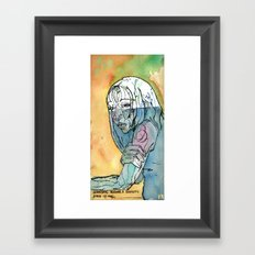Somedays require a solipsistic state of mind. Framed Art Print