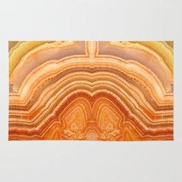 Orange Ripple Mineral Surface Rug