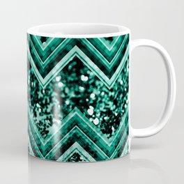 Emerald Glitter Chevron #1 #shiny #decor #art #society6 Coffee Mug