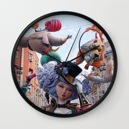 Fallas is a phenomenon, Valencia Spain Wall Clock