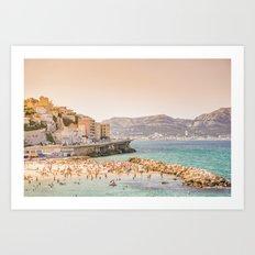 Summer - Beach - Marseille - France Art Print