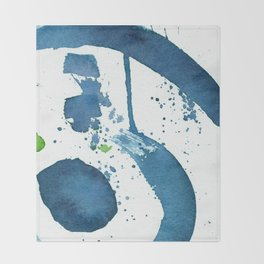 Blue Swirl Abstract Throw Blanket