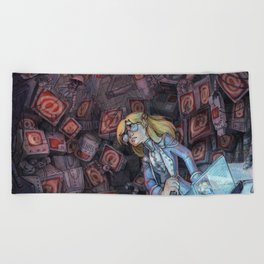 Code Romantic: Mina Poster Beach Towel