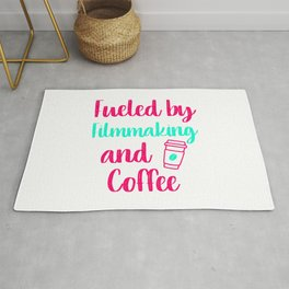 Fueled by Filmmaking and Coffee Filmmaker Production Gift Rug