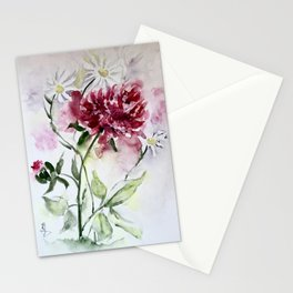 Peonies and Daisies Stationery Cards
