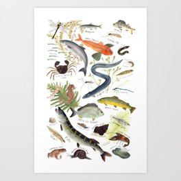 The River Thames Art Print