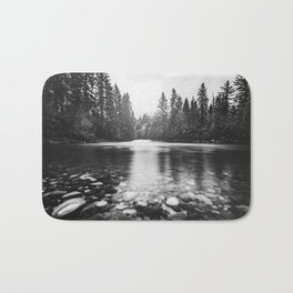 Pacific Northwest River III - Nature Photography Bath Mat
