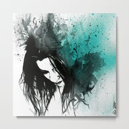 This Confession Means Nothing: Turquoise Metal Print