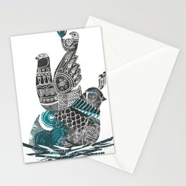 nesting birds Stationery Cards
