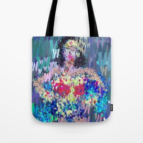 Wonder Type Woman - Abstract Pop Art Comic Tote Bag