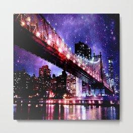 Majestic New York City: Manhattan Bridge Metal Print