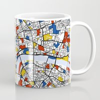 london Mugs featuring London by Mondrian Maps