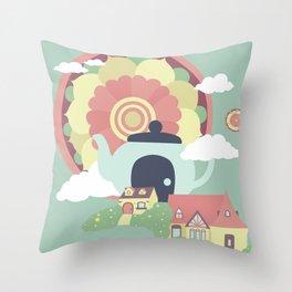 Mandala Tea Throw Pillow