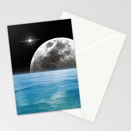 Moon Ocean Stationery Cards