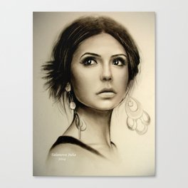 Nina Dobrev The Vampire Diaries  Canvas Print