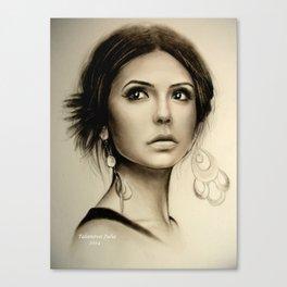 Nina Dobrev The Vampire Diaries  Canvas Print