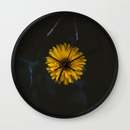 Yellow flower on point in Germany Wall Clock