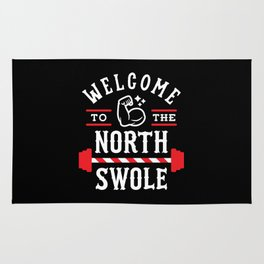 Welcome To The North Swole (Funny Christmas Gym Pun) Rug