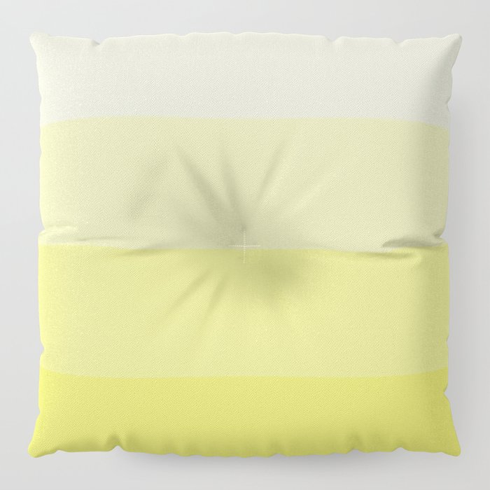 Four Shades of Yellow Floor Pillow