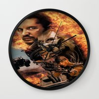 mad max Wall Clocks featuring Mad Max by SB Art Productions