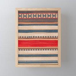 N66 - Classic Oriental Moroccan Style Fabric. Framed Mini Art Print