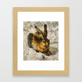 Van Gogh malt Duerrers Hase Framed Art Print