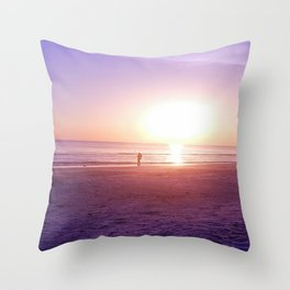 Fluorescent Beach Throw Pillow