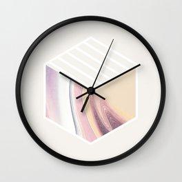 Eyes Closed 001 Wall Clock