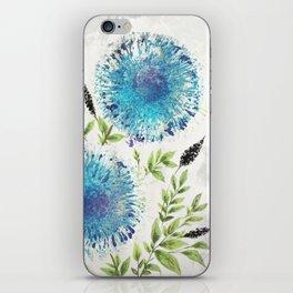 Dandelions Blue iPhone Skin