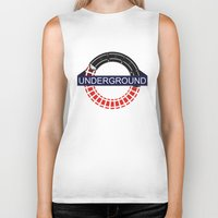 velvet underground Biker Tanks featuring UNDERGROUND by Kasım Aliosman