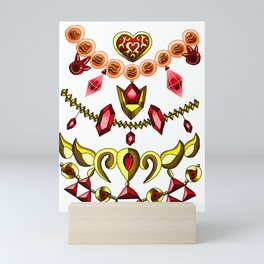 LOZ Design #1. - Red Gems of Hyrule Mini Art Print