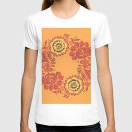 Orange Khokhloma T-shirt