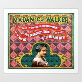 Madam C.J. Walker Quote Art Print