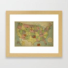 Map of Indian Reservations 1902 Framed Art Print