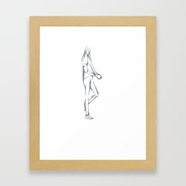 Triangle Girl Framed Art Print