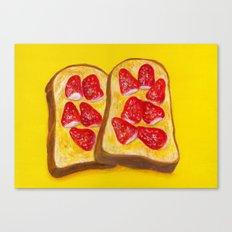 Strawberry Toast Canvas Print