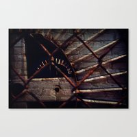industrial Canvas Prints featuring Industrial by KunstFabrik_StaticMovement Manu Jobst