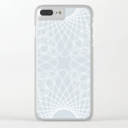 mathematical rotating roses - ice gray Clear iPhone Case