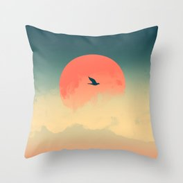Lonesome Traveler Throw Pillow